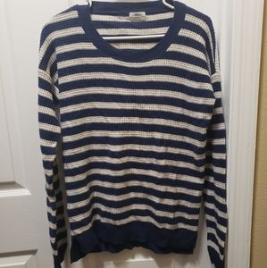 MADEWELL Wallace Striped Waffle Knit Heart Elbow